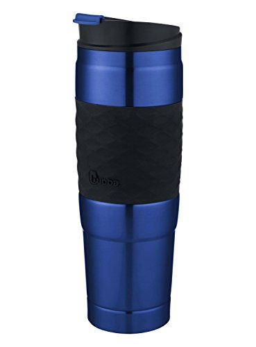 Bubba HT Vacuum-Insulated Stainless Steel Travel Mug with Grip, 26 oz, Blue