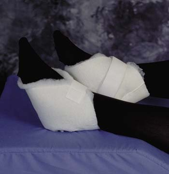 Heel Protector - White, Covers the heel extending from ankle to mid instep. One hook & loop strap closure. Sold in (Comfort Instep)