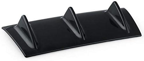 Diffusore paraurti posteriore auto universale 5//3 Fin Gloss Nero ABS Plastica Auto-Styling Paraurti posteriore Paralume