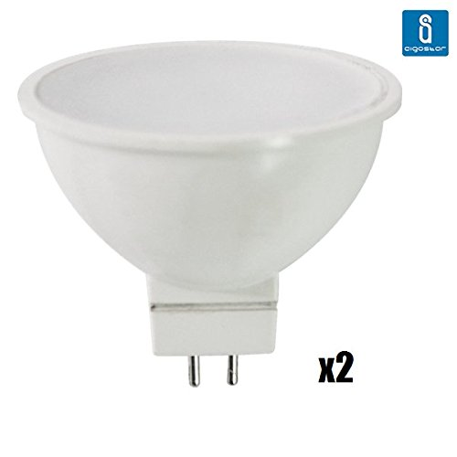 Pack de 2 Bombillas LED MR16, 6W, 420 lumen, luz blanca 6400K: Amazon.es: Iluminación