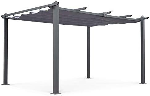 Alices Garden Pergola, Aluminio, Gris, 3x4 m