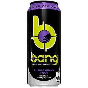 VPX Bang Purple Guava Pear RTD, 16 Fluid Ounce, 12 Count