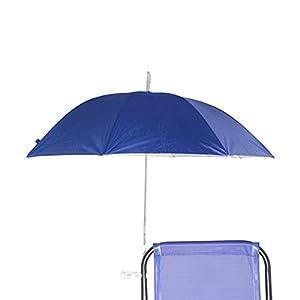 BESCH Sombrilla para Silla Playa, Jardín, Piscina,Terraza o Patio, Protección solar UPF50+, Ø100cm (Azul 2)