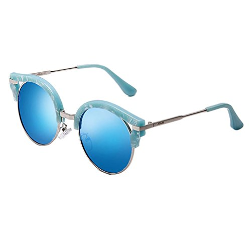 AUSKA Mens Polarized Aviator Sunglasses Outdoor Driving Glasses Eyewear Lens (Blue, One Size) by AUSKA