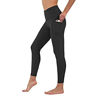 90 Degree By Reflex High Waist Tummy Control Interlink Squat Proof Ankle Length Leggings - Black - XS