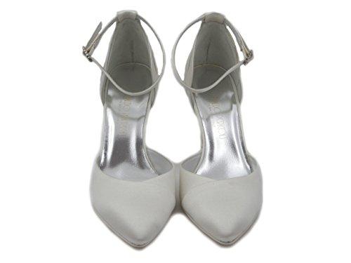 Ral Zapatos Osvaldo de Perla para 1013 PERICOLI Blanco Mujer Vestir qg1wpgTC