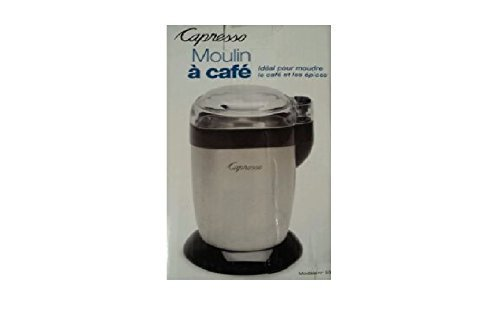 Capresso Blade Grinder For Grinding Coffee and Spices - White/Black