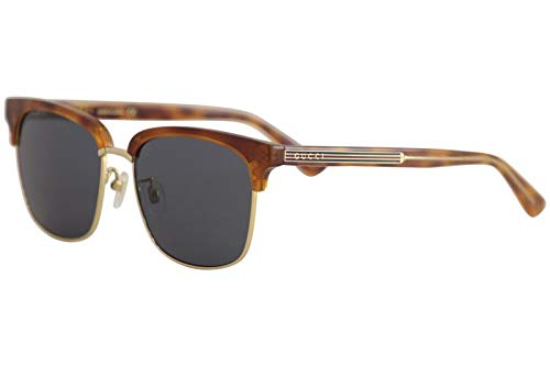 4819130d61f Image Unavailable. Image not available for. Color  Gucci GG0382S 005 Havana  GG0382S Square Sunglasses Lens ...