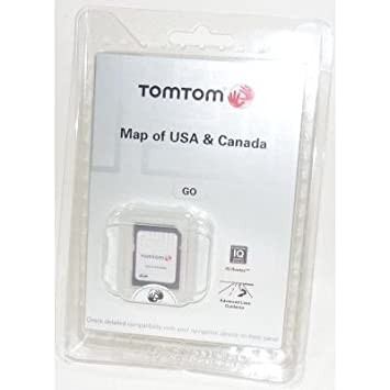 TomTom Map of USA Canada with IQ Routes Technology on SD Card