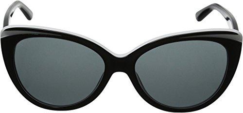 DKNY Women's 0DY4125 Cateye Sunglasses, Top Black/White, 57 mm