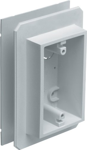 Arlington Industries FS8091F 19.4 Cubic-Inches Weatherproof Flanged Outlet Switch Box, White, 10-Pack