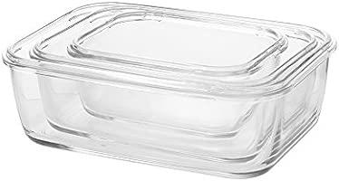 Komax hielo cristal rectangular fiambreras para microondas y ...