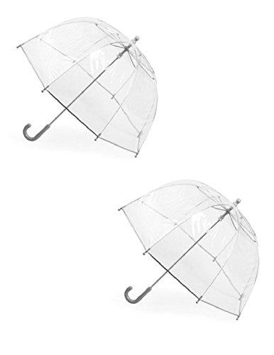 totes ISOTONER Kids Clear Bubble Umbrella (Pack of 2), Clear/Clear (Me Near Umbrella Bubble)