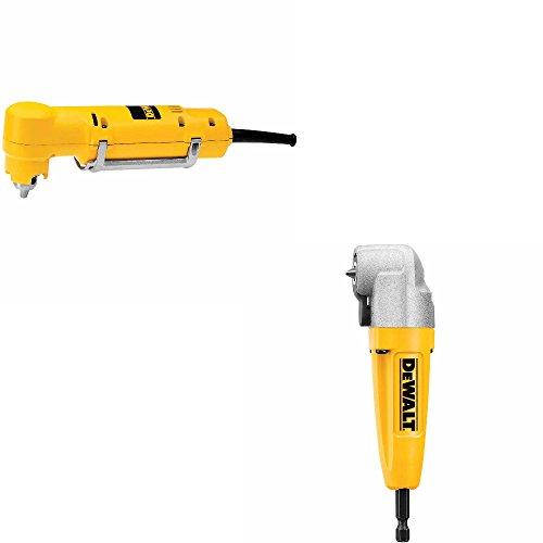 DeWalt DW160V HD 3/8 inch Right Angle Drill & DeWalt DWARA100 Right Angle Attachment