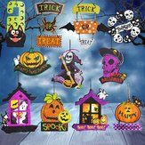 Parody Dangling - Halloween Spoof Hanging Decoration Pumpkin Ghost Skull Witch Door Hanger Supply - Sendup Suspended Pasquinade Charade Wall Mockery Supported Takeoff Lampoon - 1PCs by Unknown (Image #7)