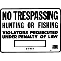 Hy-Ko Prod Co No Trespass/Hunt Sign (Pack Of 12) Ss-5 Signs by Hy-Ko