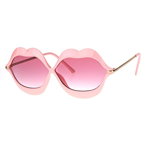 Lip Shape Sunglasses Lips Kiss Womens Cute Fashion Shades UV 400 - Uv Kiss 100 Protection Sunglasses
