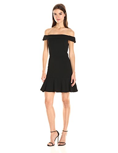 ABS Allen Schwartz Women's Off Shoulder Dress, Black, S