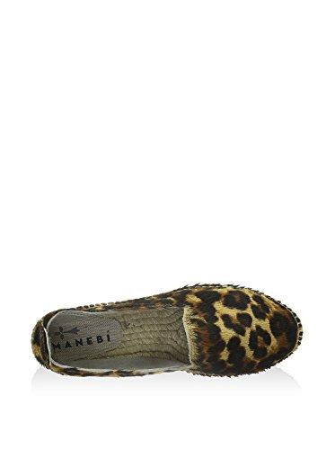 Femme K 0 Leopard Noir Accra 1 Espadrilles Pony MANEBI Hw17pqn