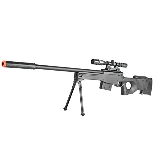 BBTac Airsoft Sniper Rifle Gun - Powerful Spring Loaded Easy to use, Great for Starter Pack Game Play (Gas Powered Sniper Rifle Airsoft)