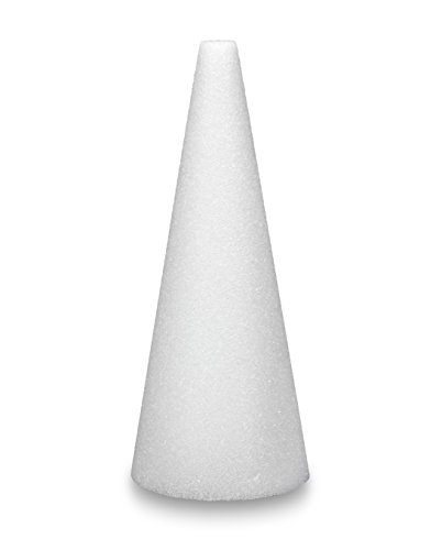 FloraCraft Styrofoam Cone 4.9 Inch x 11.8 Inch White - Floral Cone