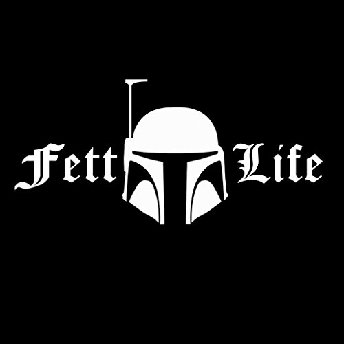 Star Wars The Force Unleashed 2 Costumes Ps3 (Fett Life Boba Fett Star Wars Decal Vinyl Sticker|Cars Trucks Vans Walls Laptop| WHITE |7.5 x 3.5 in|CCI546)
