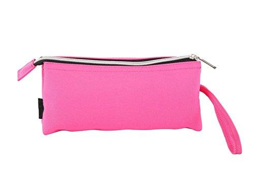 YUTIA Pencil Bag Coin Purse Pouch Cosmetic Makeup Bag Hot Pink by ArtNaturals