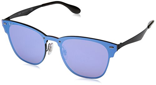 Ray-Ban Kids' Steel Unisex Square Sunglasses, Brushed Gold, 41.03 - Black Ban Ray Blaze