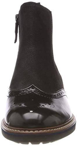 Femme Chelsea 21 Bottes Tamaris 25437 8 black Noir Nubuc TURCqIx