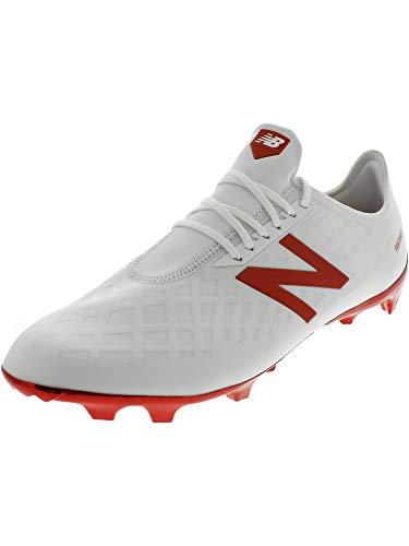 New Balance Men's Furon 4.0 Pro FG Soccer Shoe White/Flame Orange 5.5 D US ()