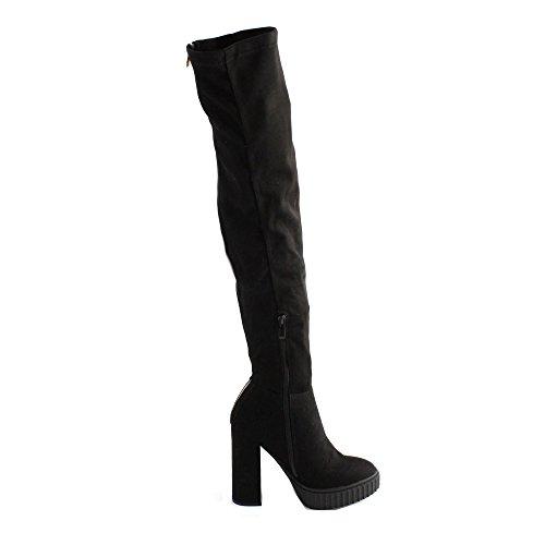 Black Guess Hautes Femme Bottes Dolores Noir Black ZrFZ6X