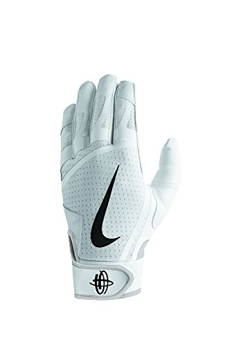 Nike Men's Huarache Edge Batting Gloves White/Black Size Medium
