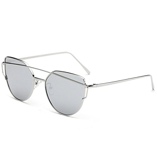 Collocation-Online Women Men Cat Eye Accessories Twin-Beams Pink Sun glasses,SJ1001C4,United ()