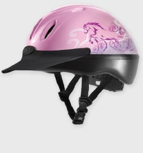 Troxel Spirit Graphic Dreamscape Helmet, Pink, Medium