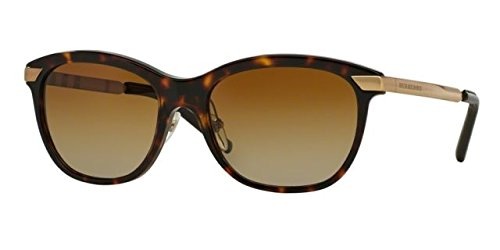 Burberry Women's BE4169Q Sunglasses Dark Havana / Polar Brown Gradient - Sunglasses Burberry Ladies