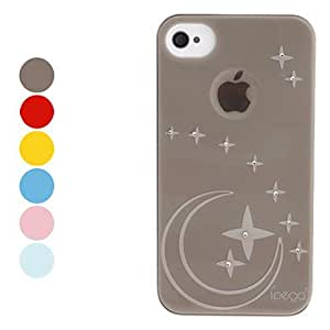 ZCL Star Pattern Hard Case with Shining Rhinestone for iPhone 4/4S (Assorted Colors) , Yellow