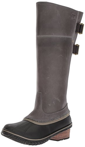 Sorel Women's Slimpack­ Riding Tall II Snow Boot, Quarry, Pebble, 7 B US by SOREL