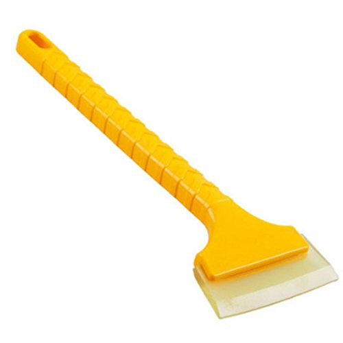 ISKYBOB Car Ice Scraper Snow Brush Shovel Long-handle Rubber Blade Clean Tool