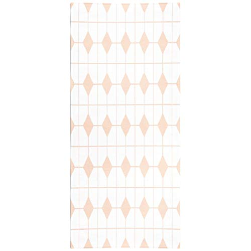 Tyfuty Plaids-Cream Travel Beach Towel Microfiber Beach Towel Fast Dry Compact Beach Blanket Checkered Tile Pattern Pink and White Wallpaper Abstract Baby Swimming Gym Camping Sunbath 30x60 Inch