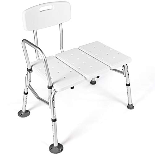Giantex Tub Transfer Bench for Elderly W/Adjustable Arm,Back and Leg H