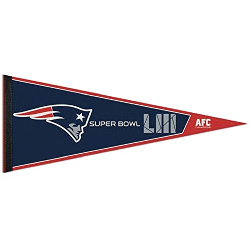 (Wincraft New England Patriots Super Bowl LIII 53 AFC Champions Pennant 12