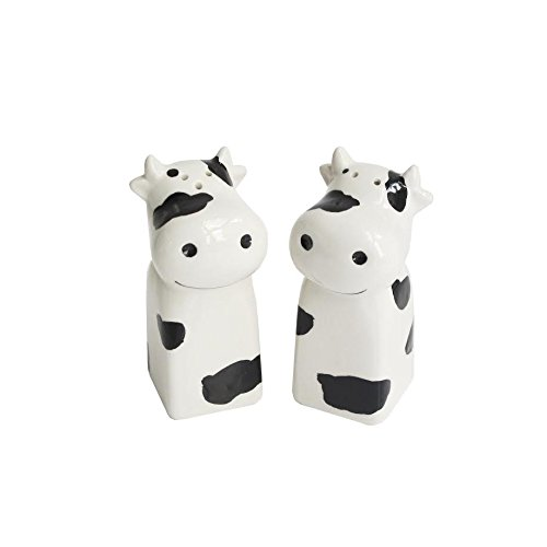 American Atelier Cow Salt and Pepper Shakers, White 6474-SP
