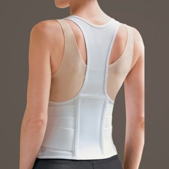 SPECIAL PACK OF 3-Cincher Female Back Support Medium White by Marble Medical
