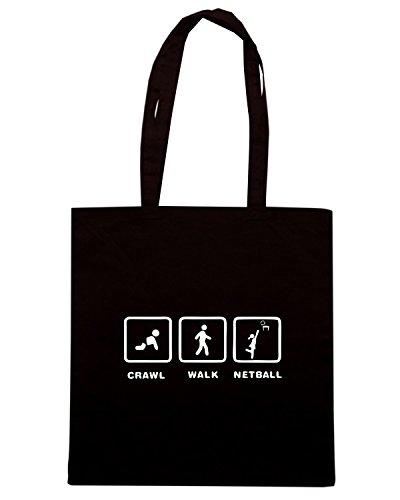 T-Shirtshock - Bolsa para la compra OLDENG00595 netball Negro