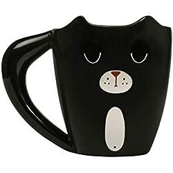 Thumbs Up PANMUG - Taza, diseño de panda, Gato Jengibre, Negro, Estándar, 1