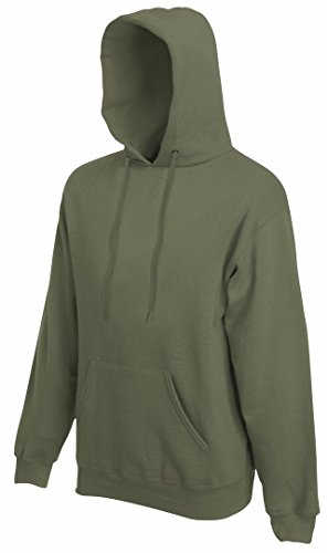 Fruit of the Loom SS068M, Capucha para Mujer verde(Classic Olive)