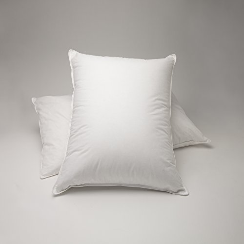 FineFeather 100% White Goose Down Pillow, Luxury 550 Fill Power, Firm, King Size, Pack of 2