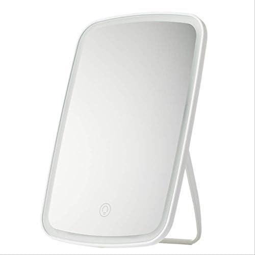 ZMHZJ タッチスクリーンスイッチとLEDライト、ライト付きトラベルバニティミラー、調光対応表カウンター化粧鏡付メイクアップミラー