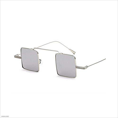 Color Mujeres de Sol de Unisex metálica pequeñas Plata Montura para con para Gafas Gafas cuadradas Gafas clásicas de Hombres Negro Sol Sol wH4Xxdnfq