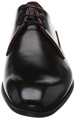 Negro black Derby derb bord 001 Hugo Para Zapatos De Cordones Dressapp Hombre nfqwzvU4
